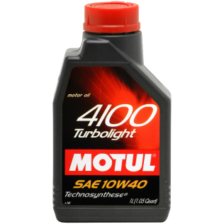 Масло MOTUL 4100 TURBOLIGHT 10W40 1L