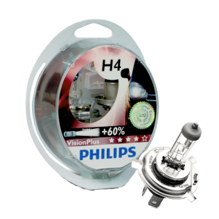 Крушка Philips H4 Vision Plus+60%