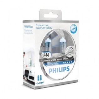 Крушка Philips H4 White vision Ultra Xenon effect
